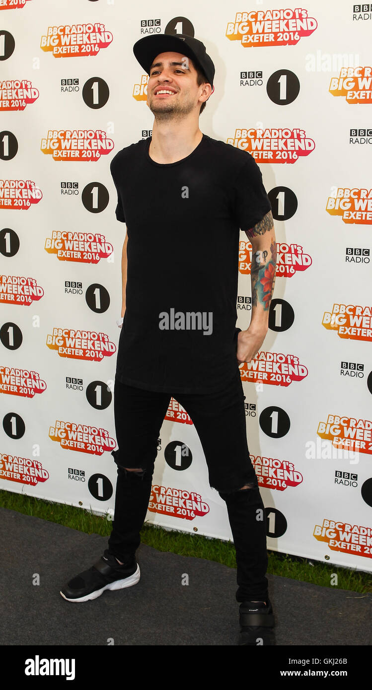 radio 1 big weekend at powderham castle in exeter devon featuring panic at the disco brendon urie where exeter united kingdom when 29 may 2016