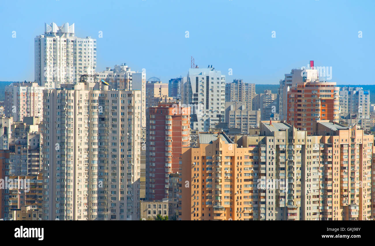 Architecture of density living condition. Kiev, Ukraine - Stock Image