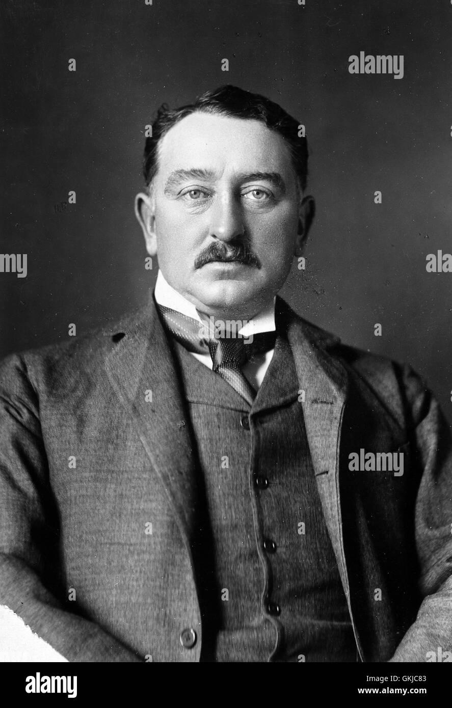 CECIL RHODES (1853- 1902) British entrepreneur and politician in South Africa, here about 1900 - Stock Image