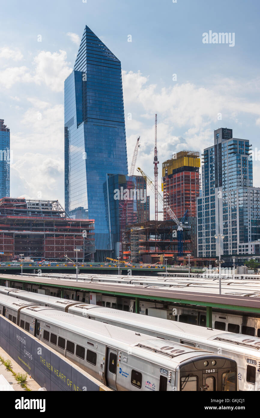 Buildings under construction as part of the Hudson Yards Project on the west side of Manhattan in New York City. Stock Photo