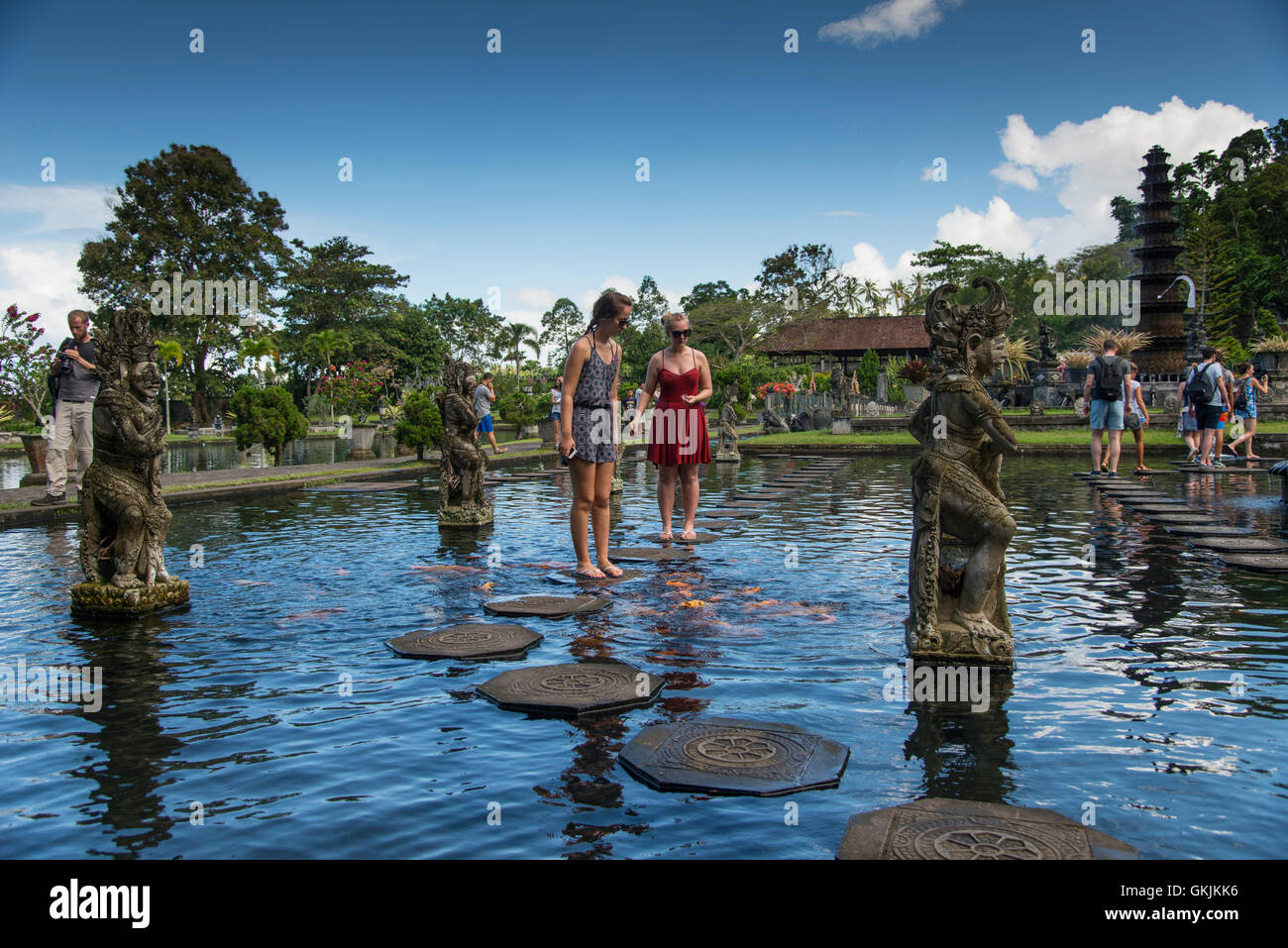 Tirta Gangga Royal Water Garden: Fish Pools Stock Photos & Fish Pools Stock Images