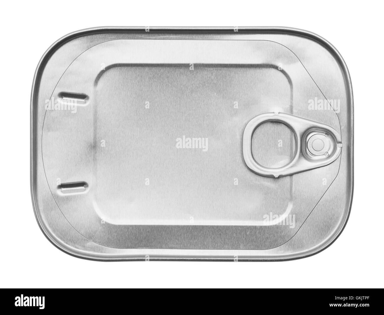 New Sardine Can Isolated on White Background. - Stock Image