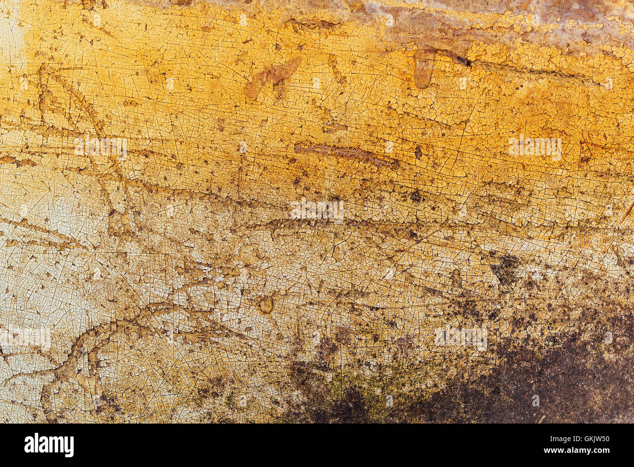 Obsolete grunge surface texture with scratches and stains - Stock Image