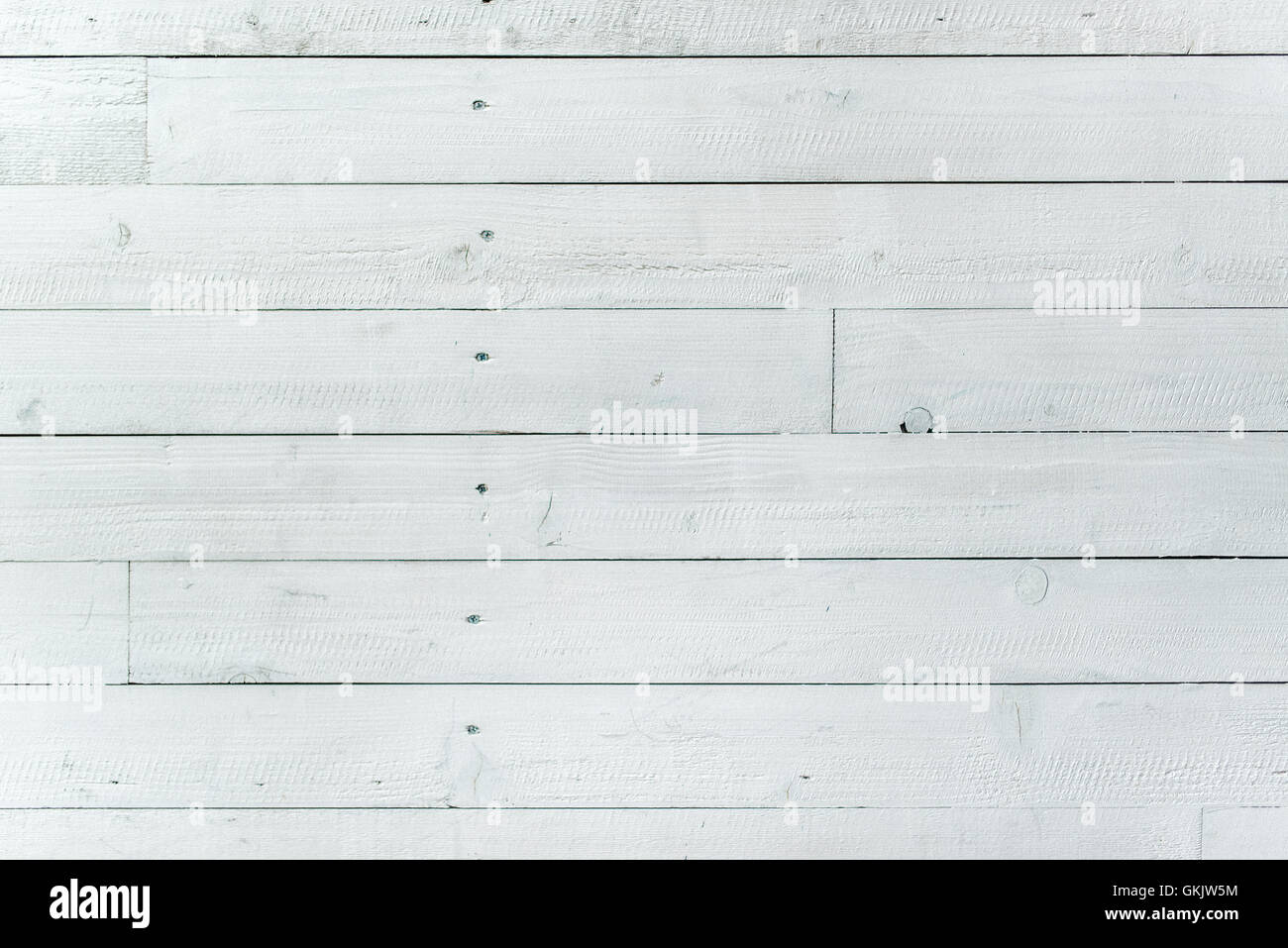 White planks surface texture, wooden board used for flooring - Stock Image