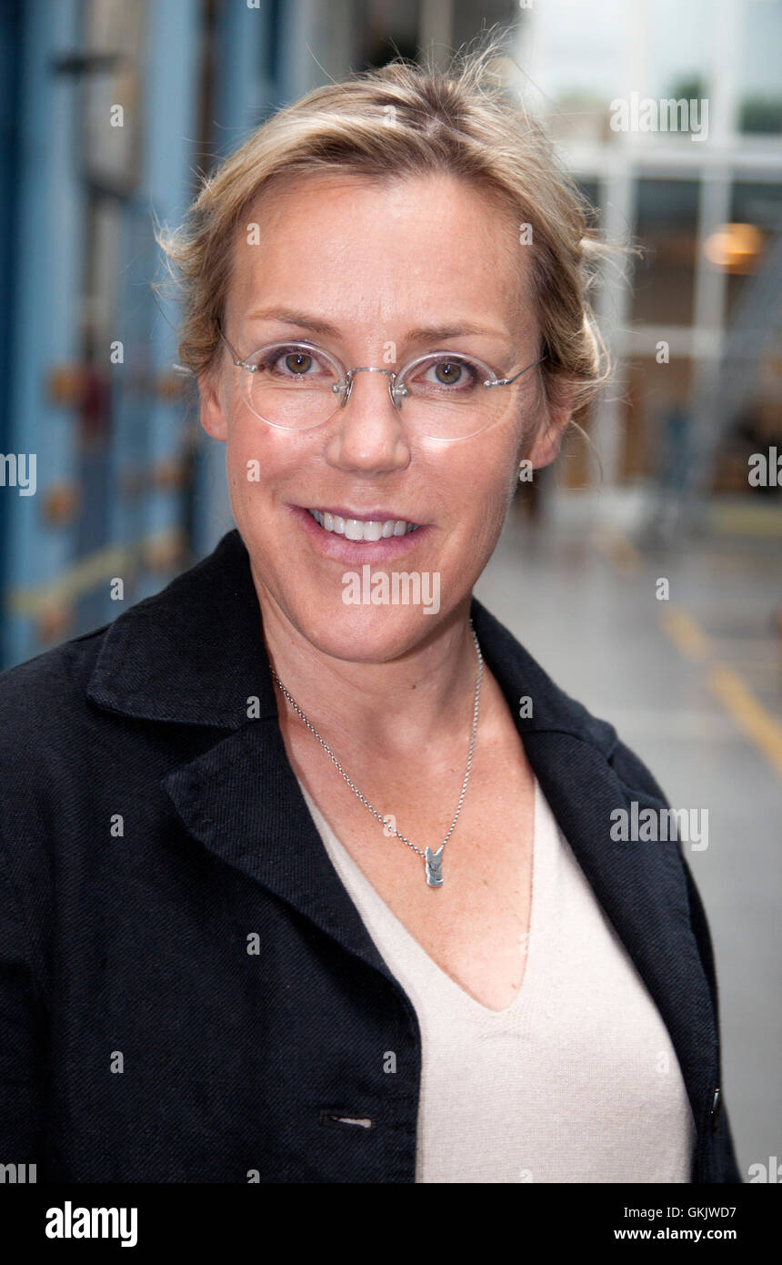 ÃSA LARSSON one of Swedish writer behind the Swedish crime wave in the literature - Stock Image
