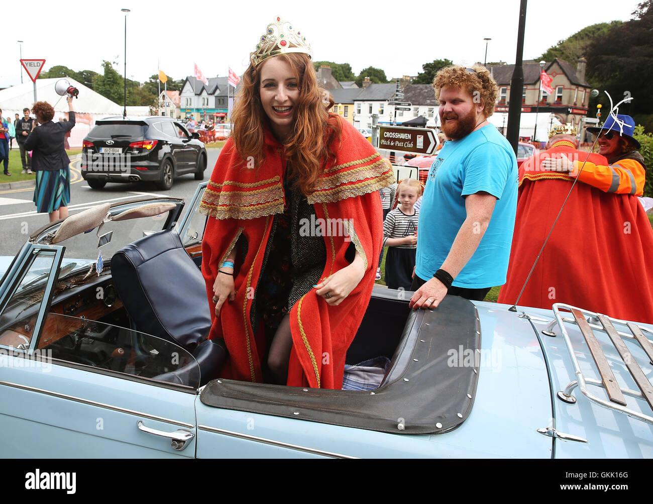 The newly crowned 'Queen of the Redheads' Emma Ni Chearuil at the Irish Redhead Convention held in the village of Stock Photo