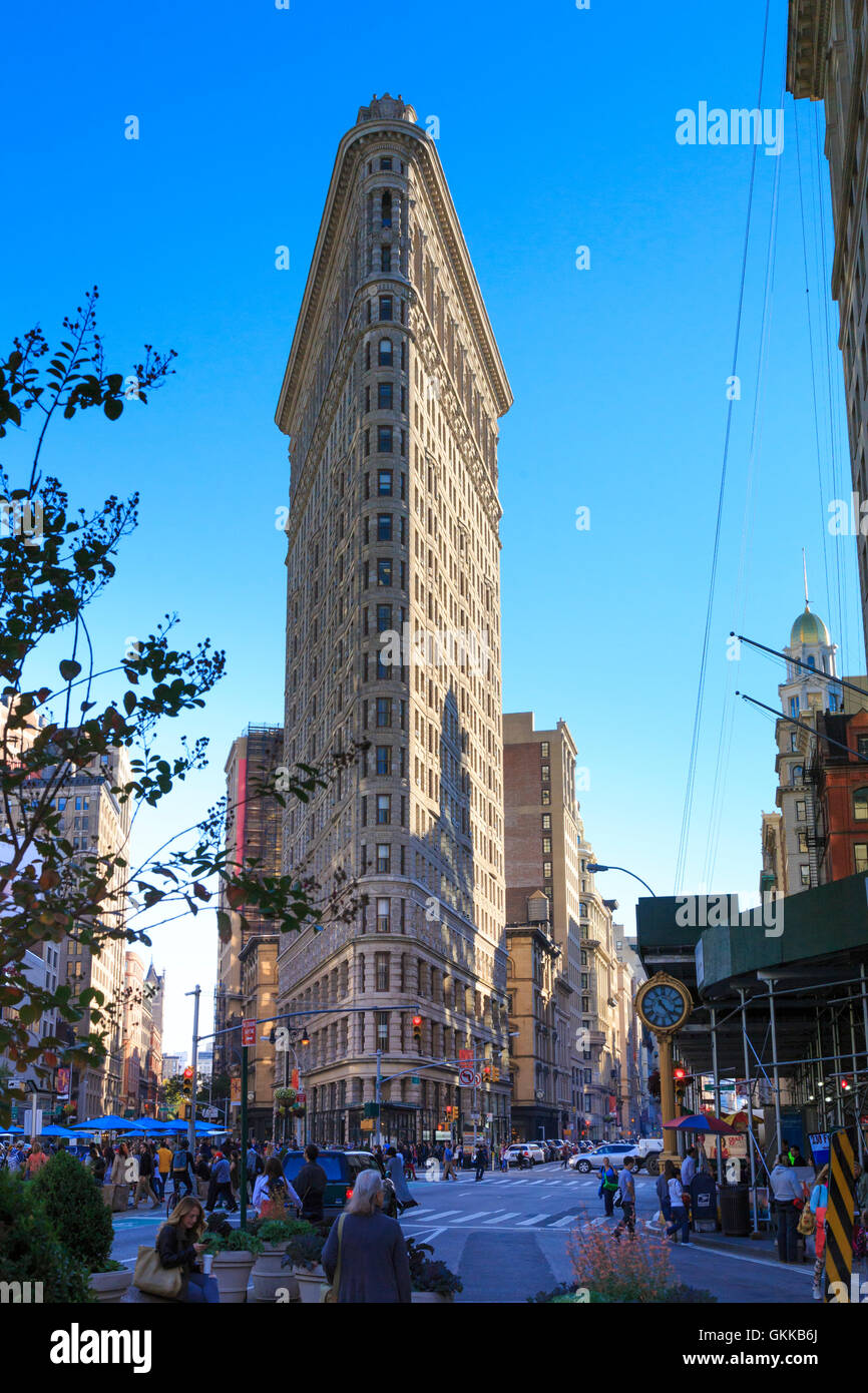 USA, New York, New York City, Manhattan, Flatiron Building - Stock Image