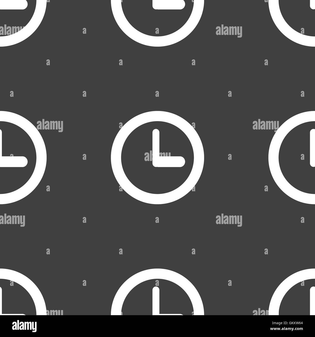 Watch web icon. flat design. Seamless pattern. - Stock Image