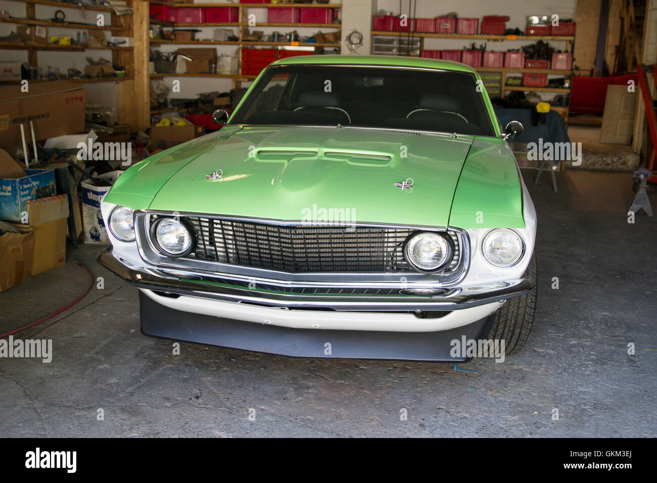 Finished rebuild of a Ford Mustang - Stock Image
