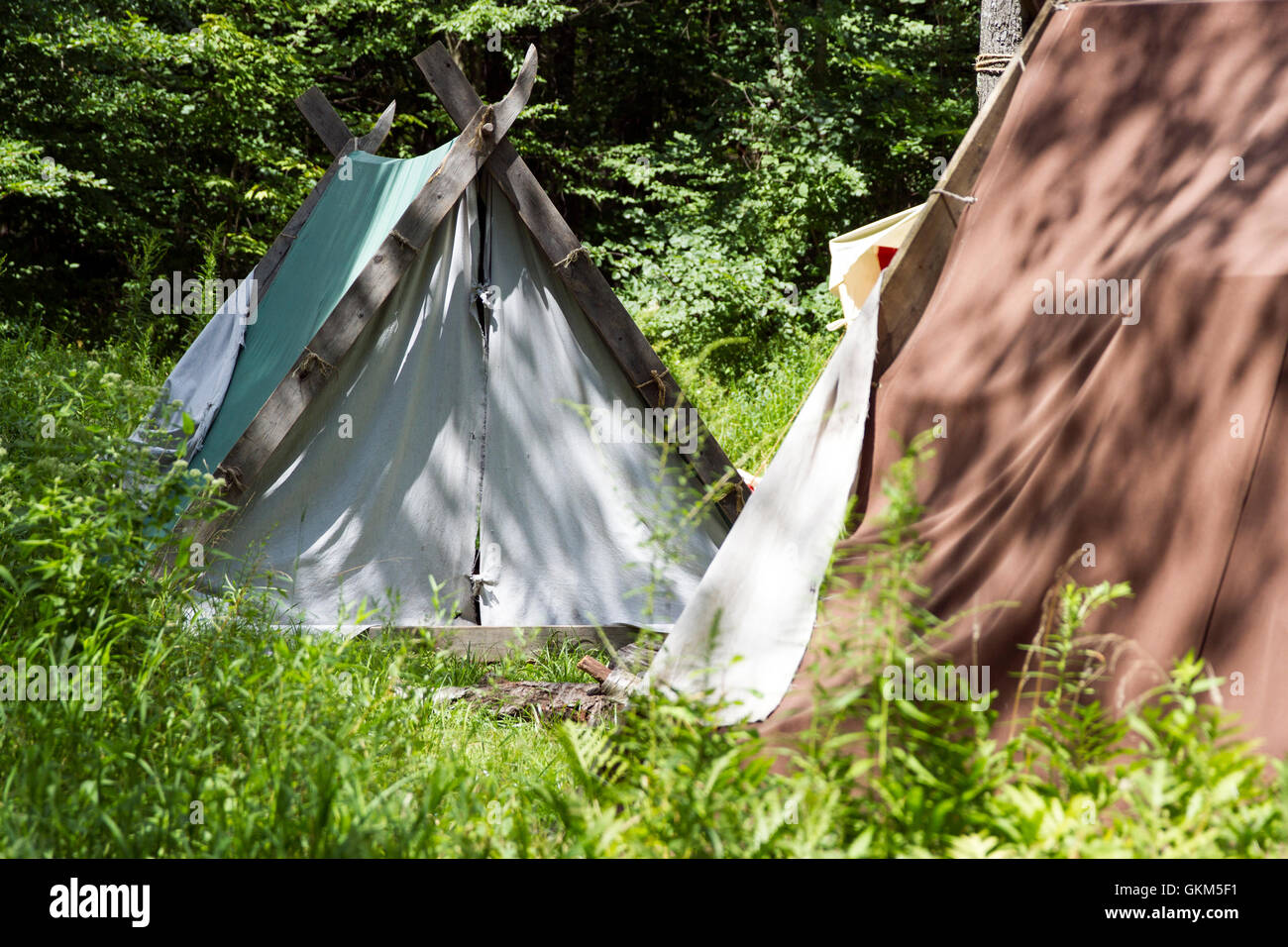 Old Fashion Tents - Stock Image
