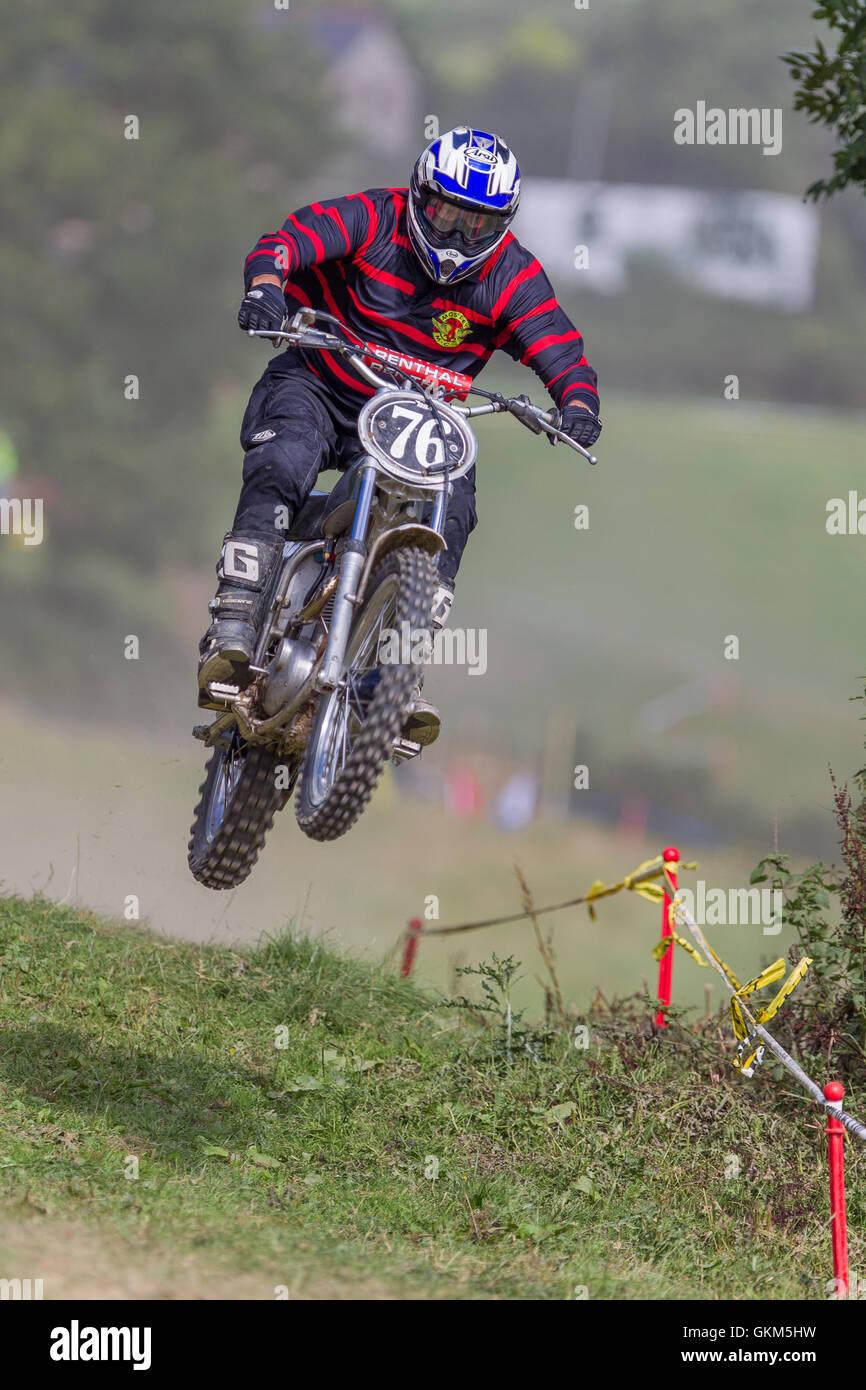 Classic dirt bike racing - Stock Image