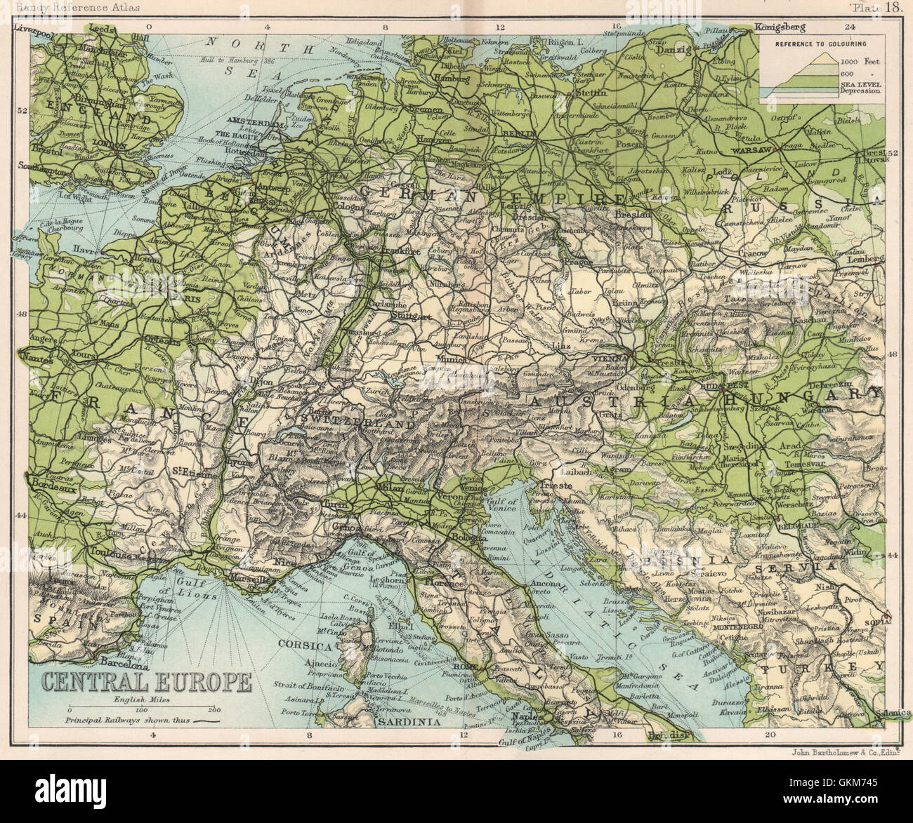 Picture of: Central Europe Alps Northern European Plain Rhine Valley 1904 Stock Photo Alamy