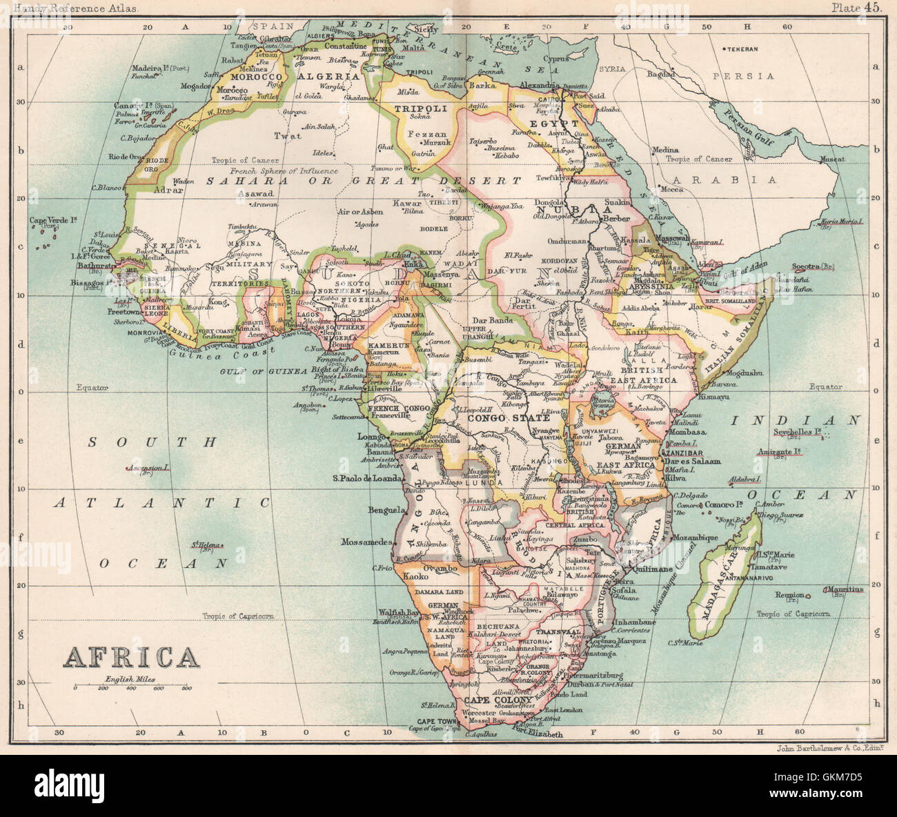 Africa. Congo State. British/German East Africa. Cape Colony, 1904