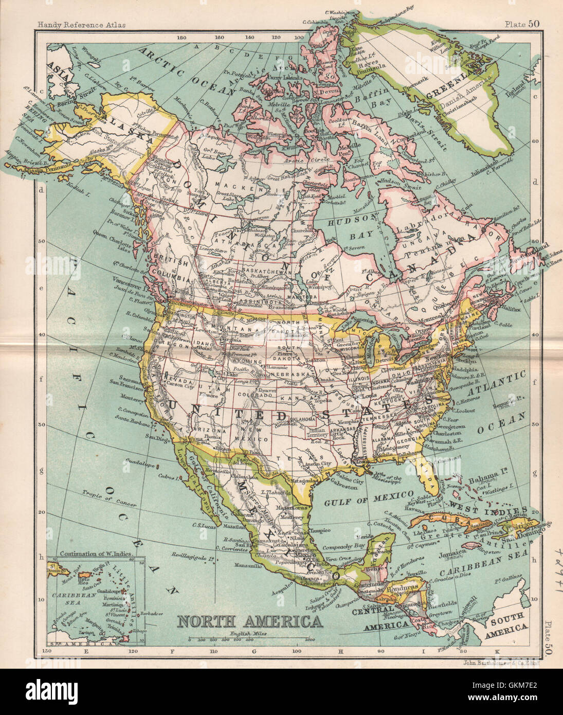 Canada And United States Map.United States Of America And Canada Map Stock Photos United States