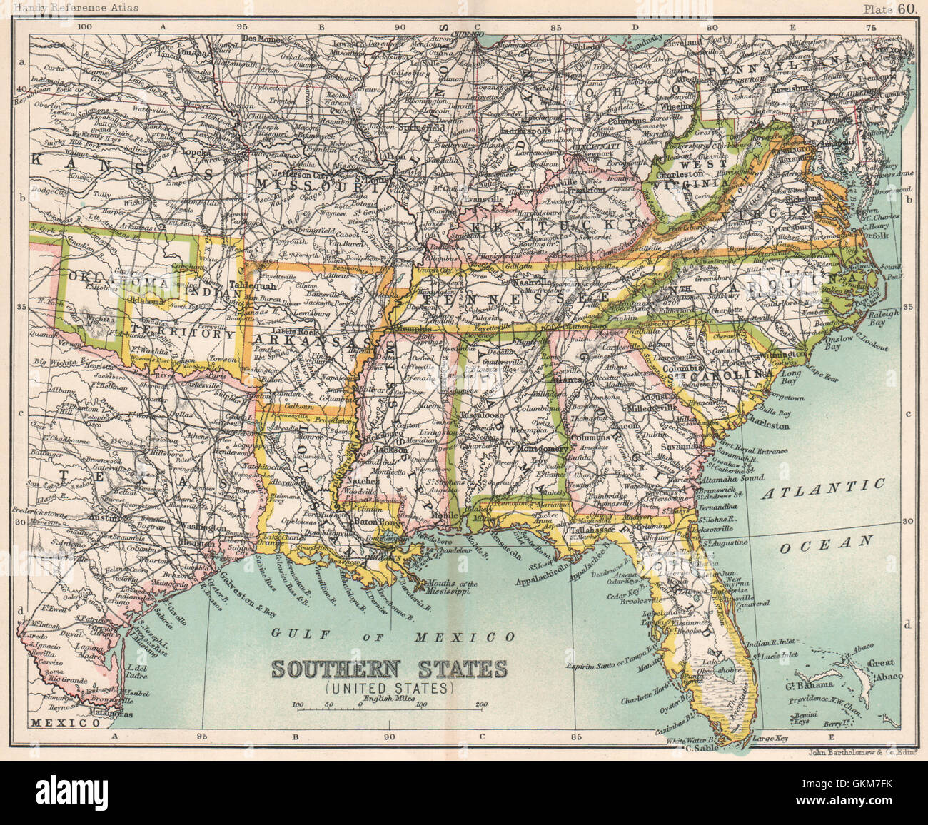 Image of: Southern States United States Deep South Indian Territory Usa Stock Photo Alamy