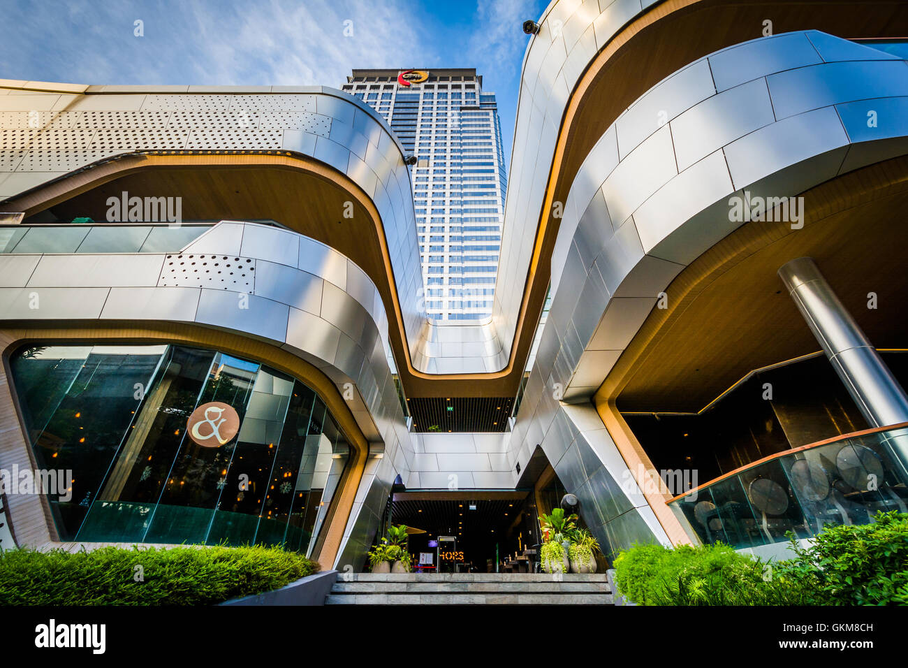 The exterior of the CentralWorld Mall, at Siam, in Bangkok, Thailand. - Stock Image