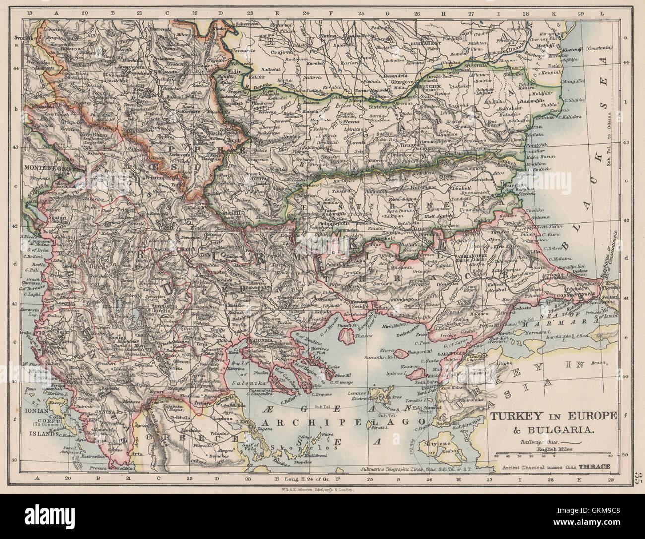 TURKEY IN EUROPE & BULGARIA  Rumili East Rumelia Balkans