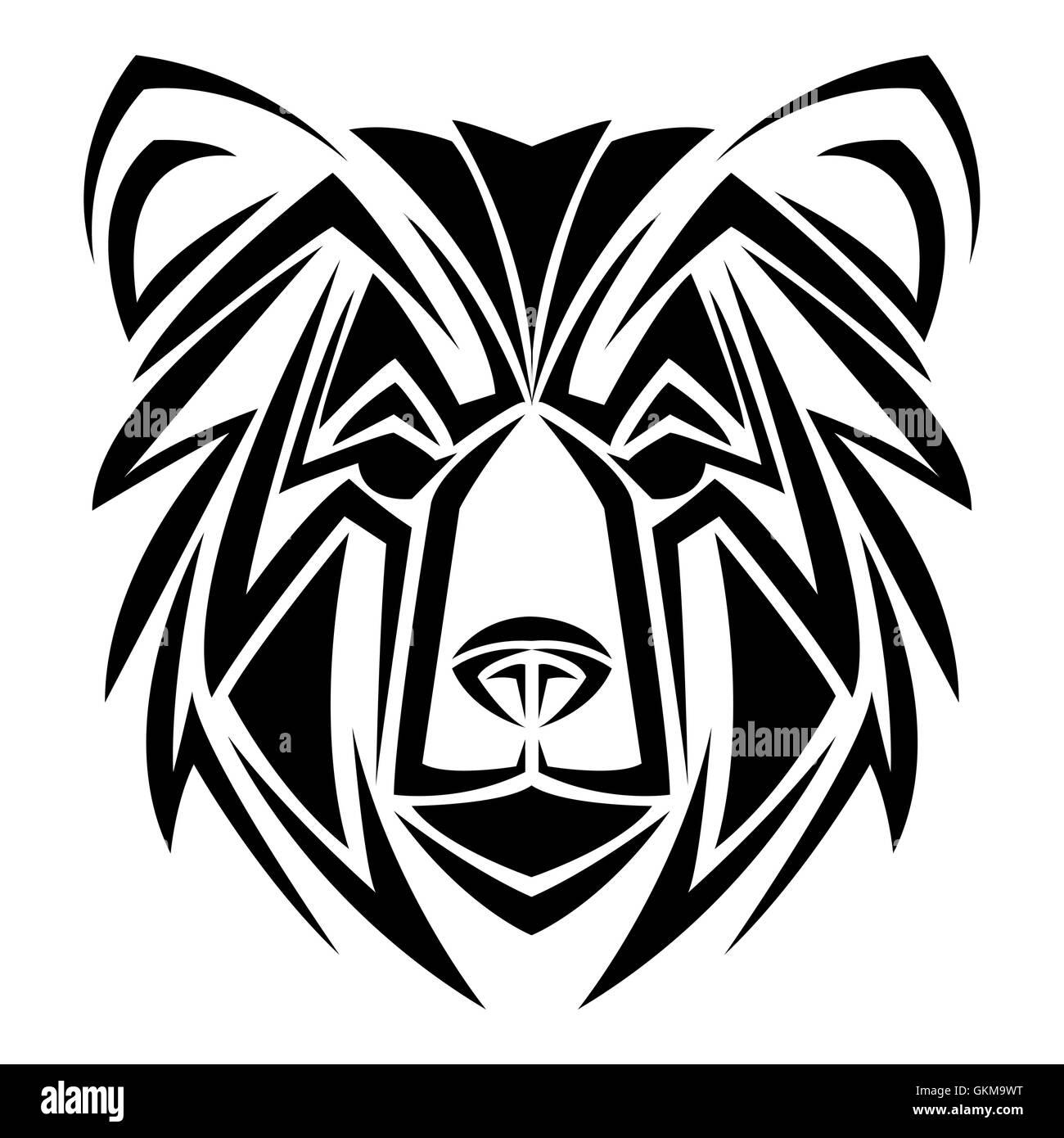 Bear Tattoo Animal Design Stock Vector Art Illustration Vector