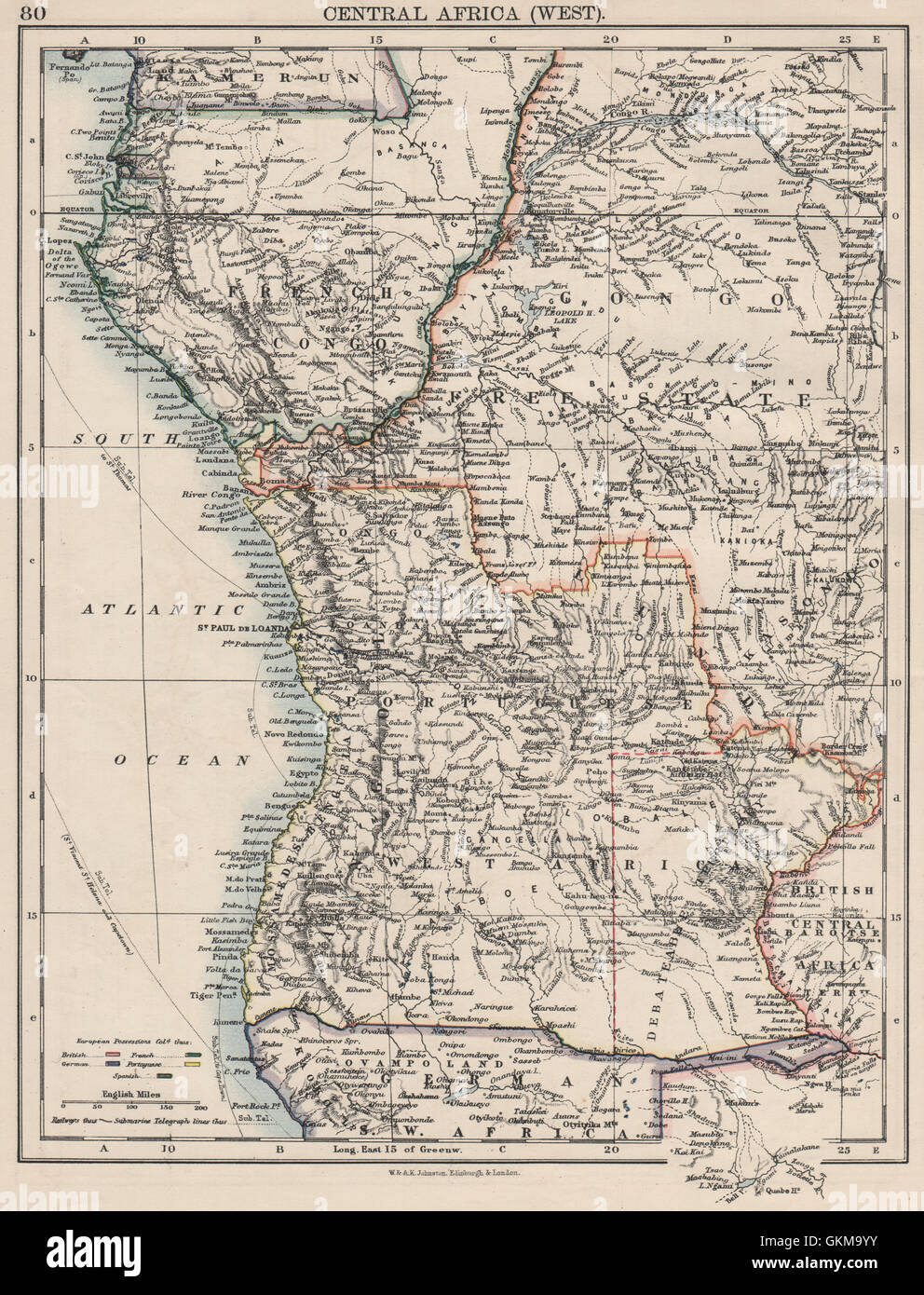 Colonial Central Africa French Congo Free State Portuguese West Af
