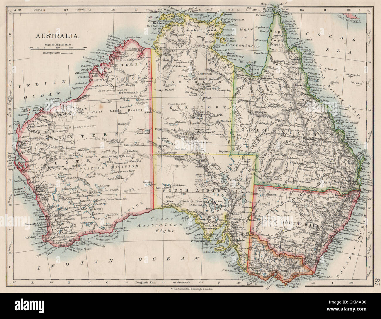 Australia Map 1900.Australia States Showing Northern Territory Within Sa