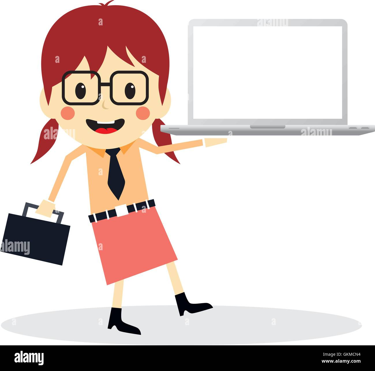 business presentation cartoon character Stock Vector