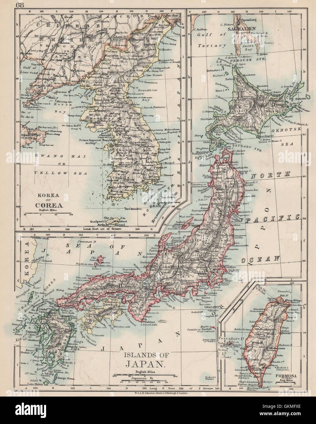 COREA JAPAN FORMOSA. Korea Taiwan. Hachijo