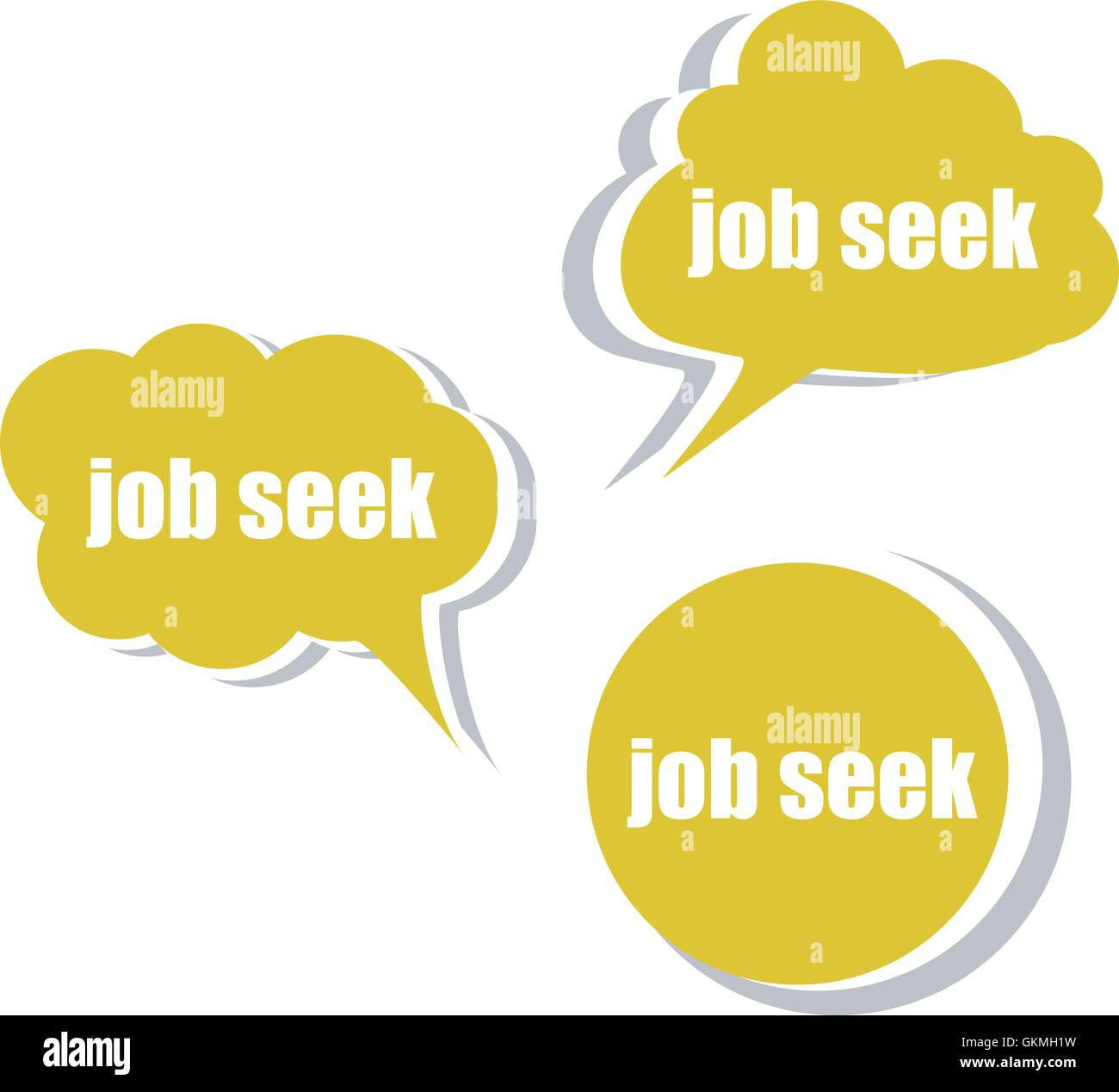 job seek. Set of stickers, labels, tags. Template for infographics ...