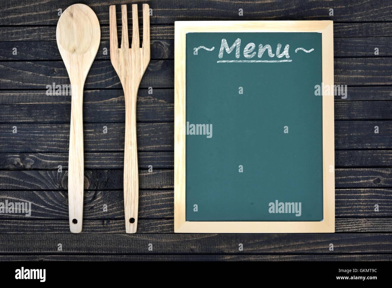 Board Frame Wood Fork Spoon Stock Photos & Board Frame Wood Fork ...