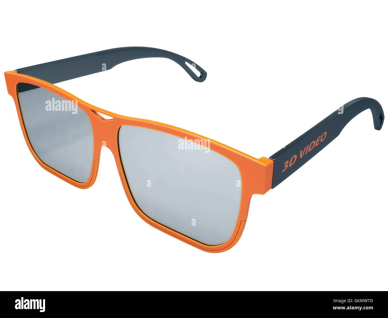 3d glasses for three-dimensional video - Stock Image