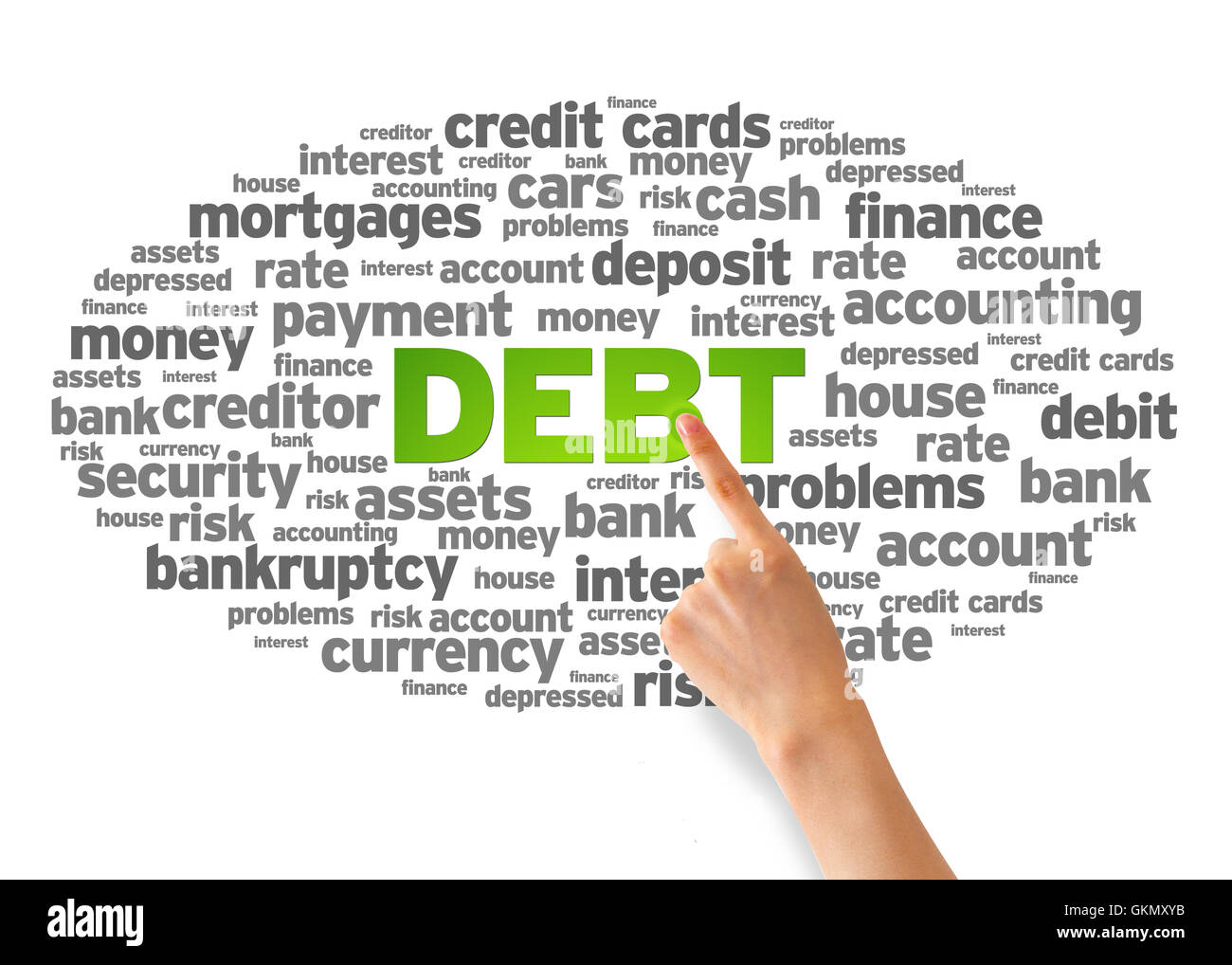 Debt - Stock Image
