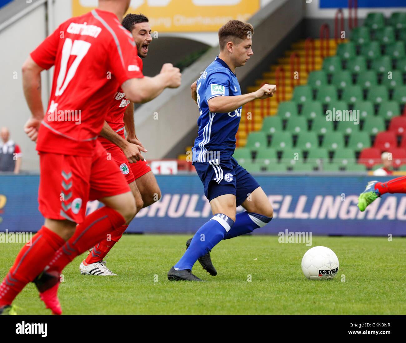 sports, football, Regional League West, 2016/2017, Rot Weiss Oberhausen versus FC Schalke 04 U23 1:1, scene of the - Stock Image