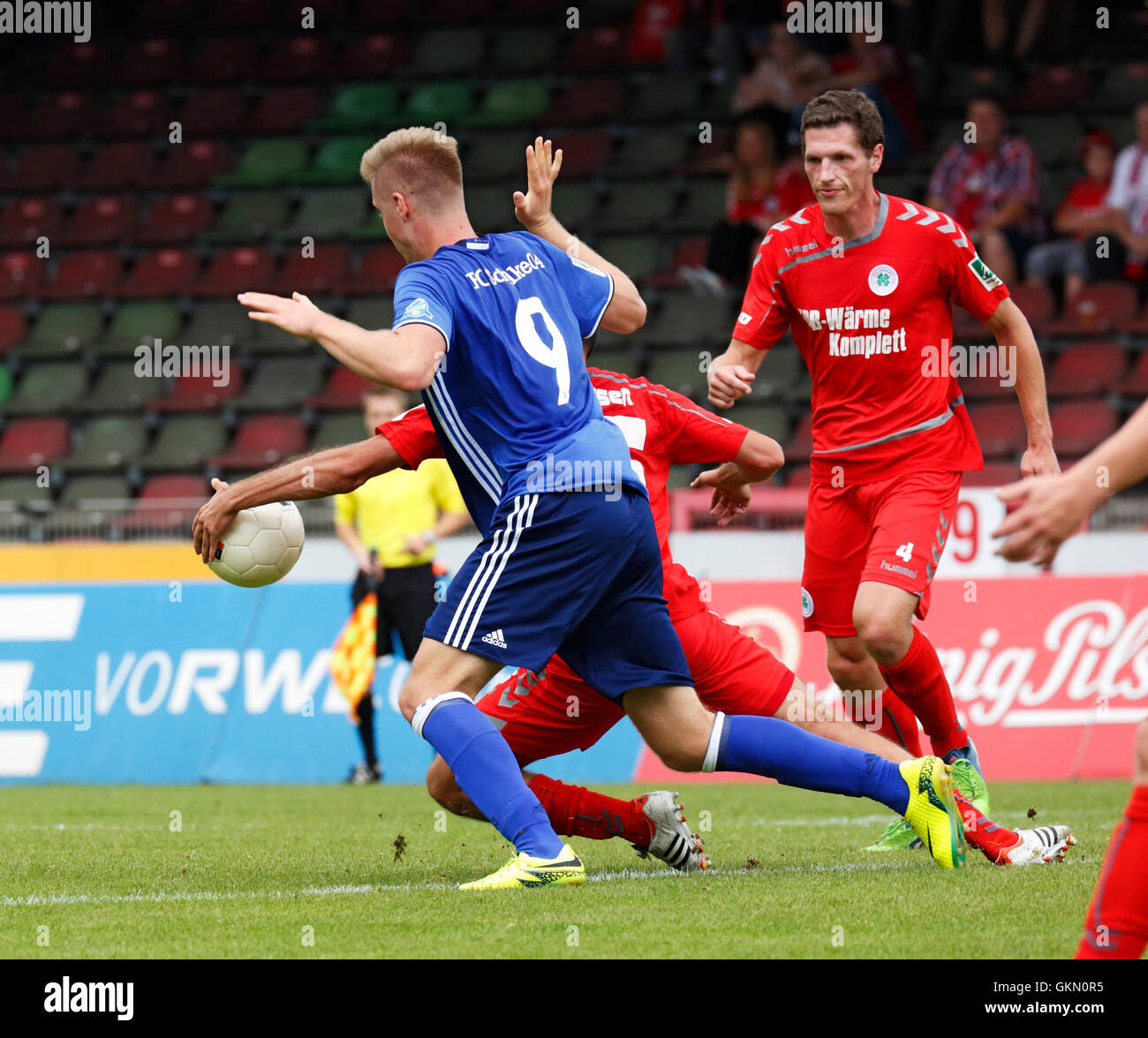 sports, football, Regional League West, 2016/2017, Rot Weiss Oberhausen versus FC Schalke 04 U23 1:1, scene of the - Stock Image