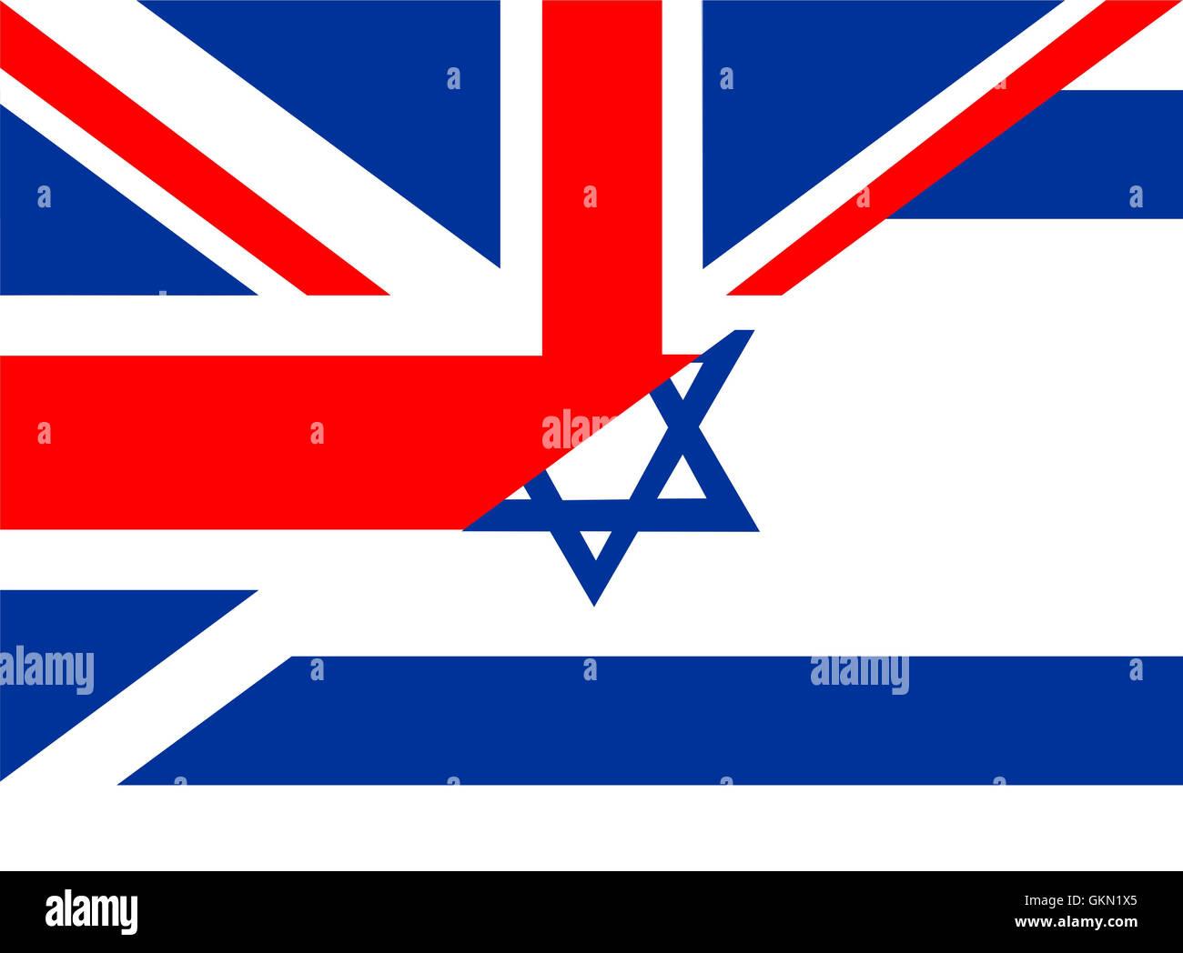 uk israel flag - Stock Image