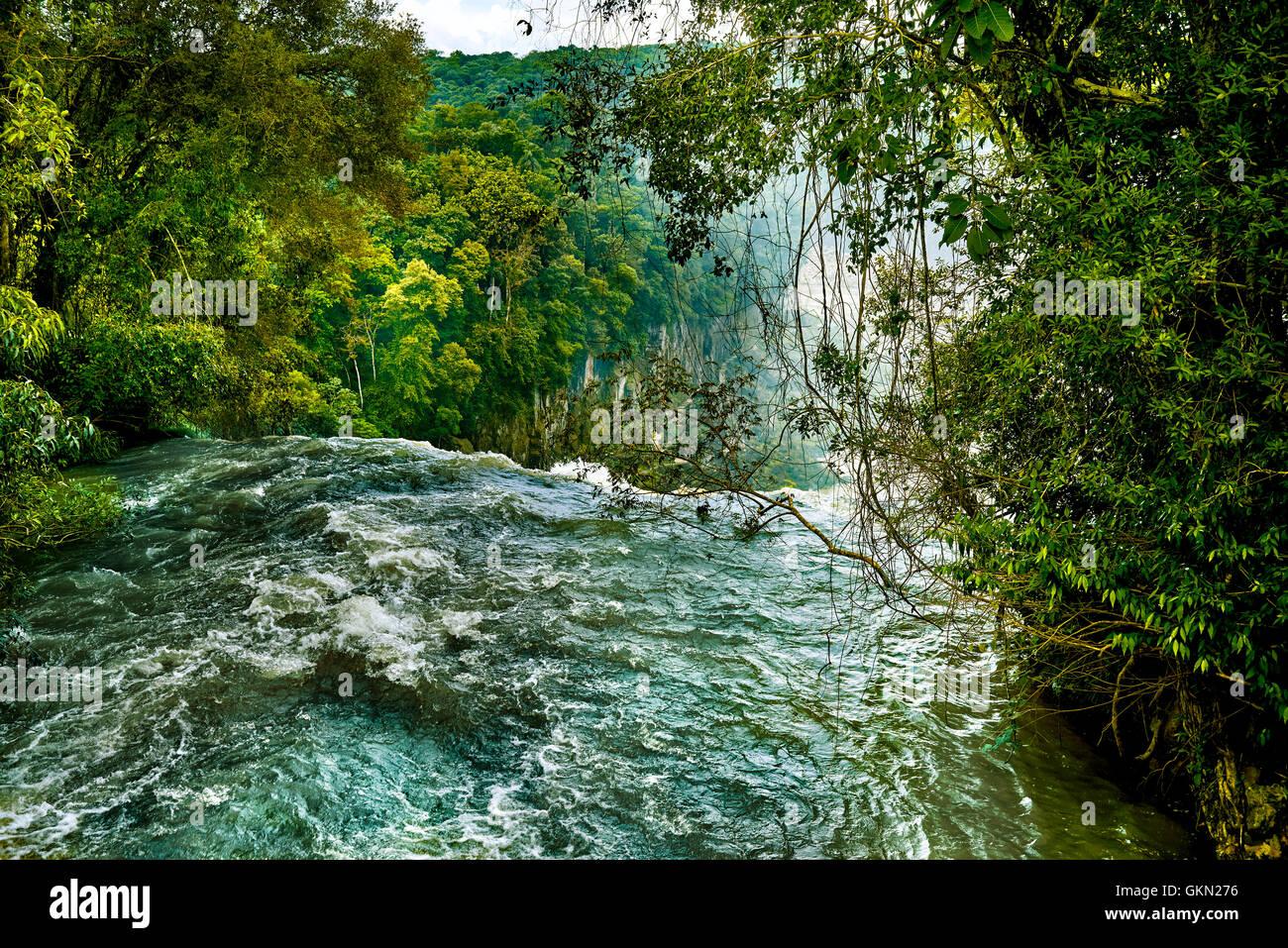Iguazu Falls (aka Iguassu Falls or Cataratas del Iguazu), Misiones Province, Argentina - Stock Image