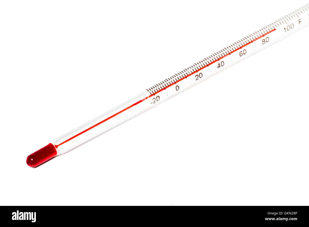 Thermometer with fahrenheit scale - Stock Image