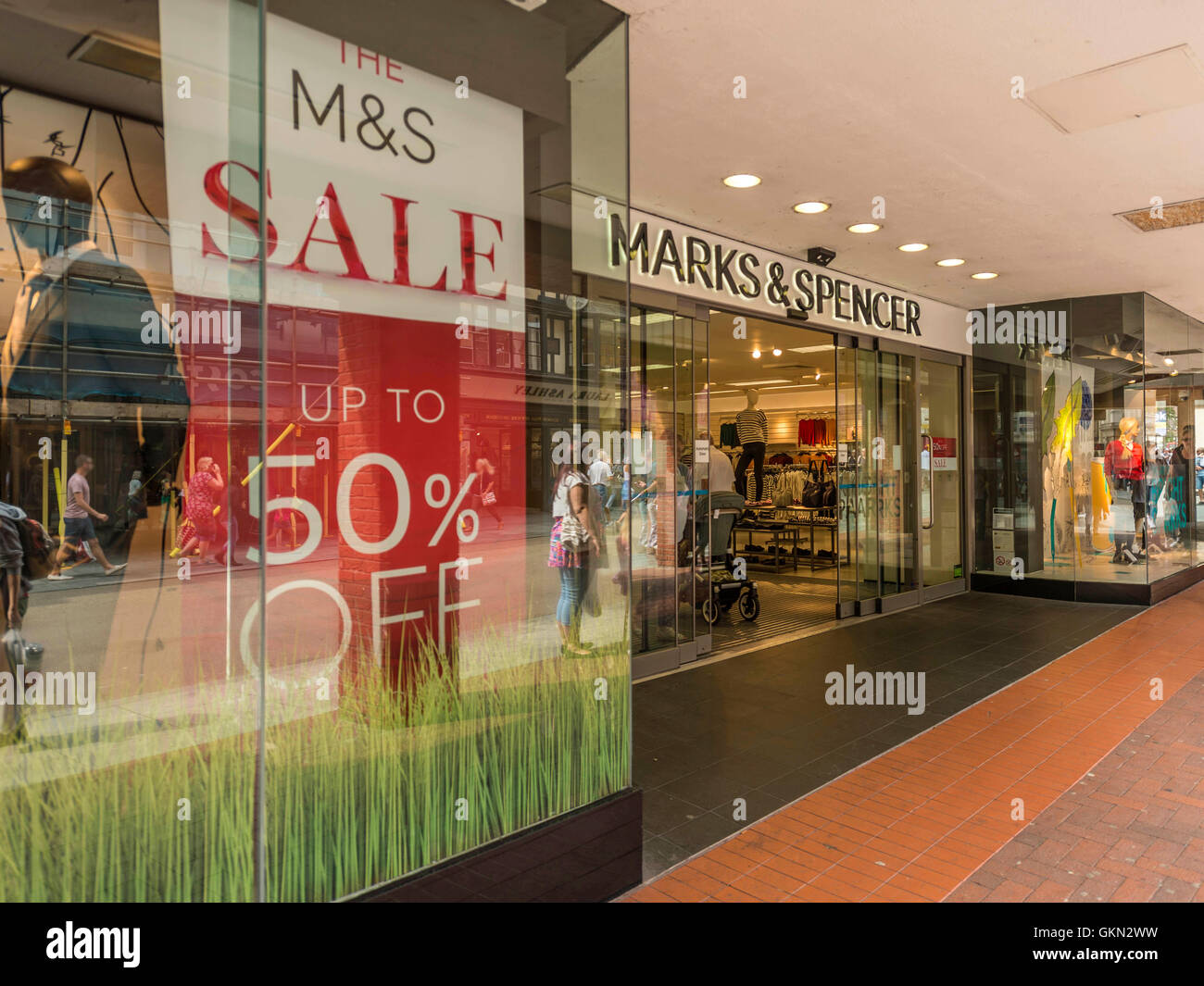 M&S Retail Outlet, Exeter City Centre, Devon - Stock Image