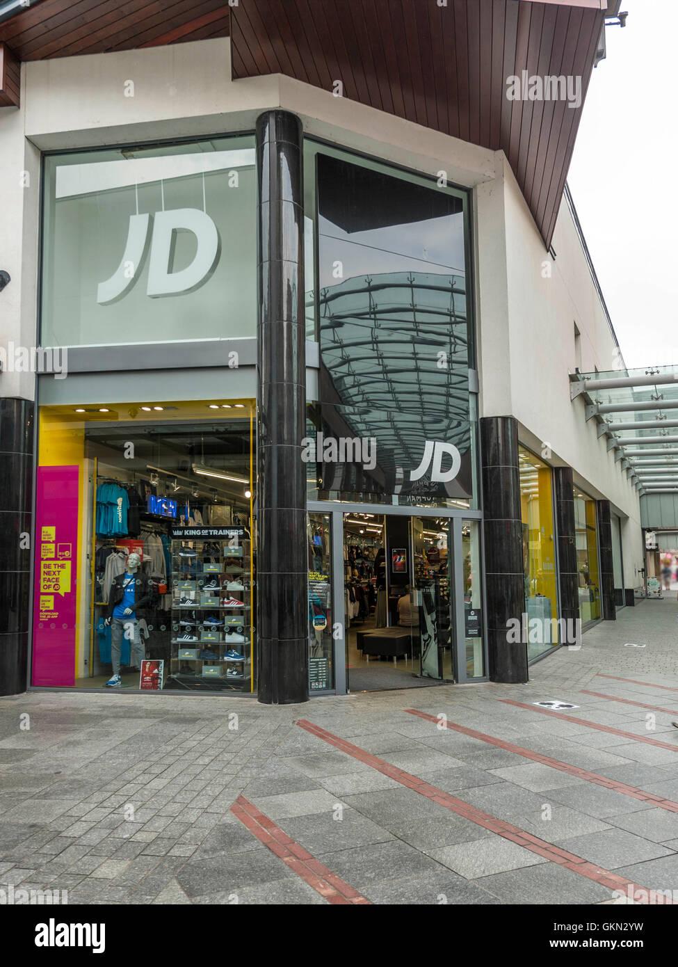 site réputé 4f65b b73e0 JD Sports Retail Outlet, Exeter City Centre, Devon Stock ...