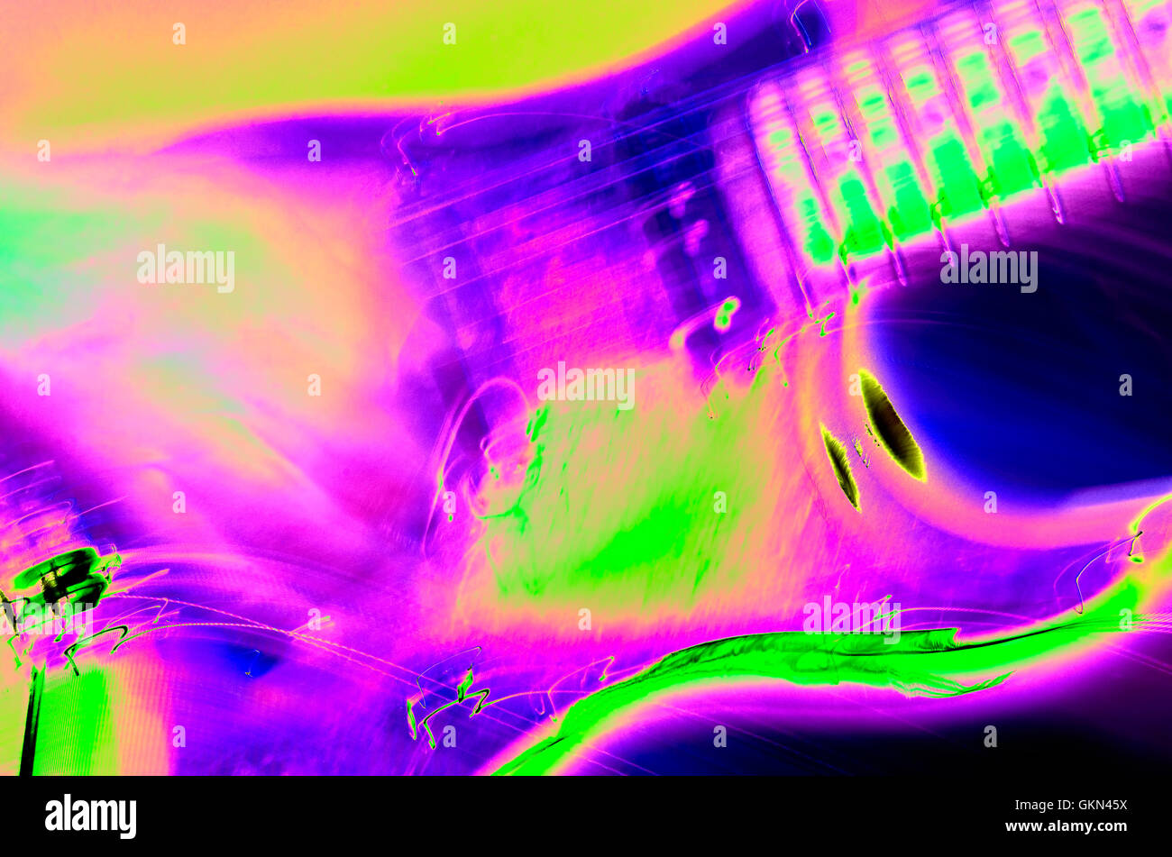 psychedelic guitar - Stock Image