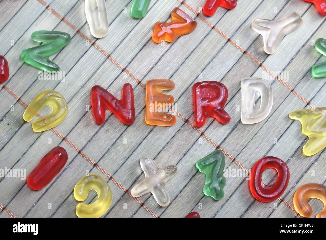 sweet letters nerd Stock Photo: 115405514 - Alamy