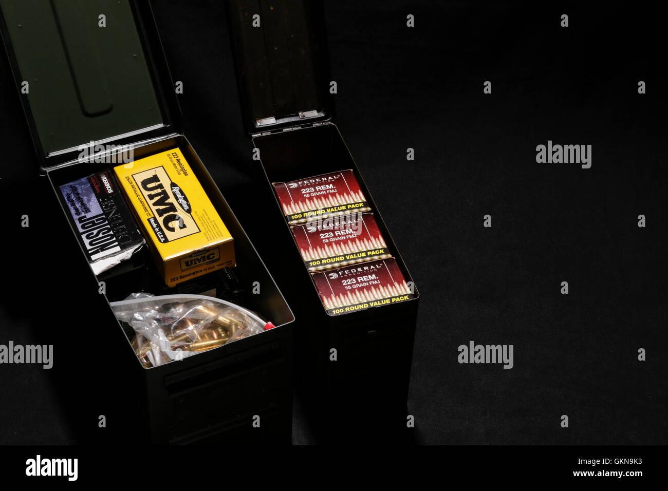 Ammunition Stash - Stock Image