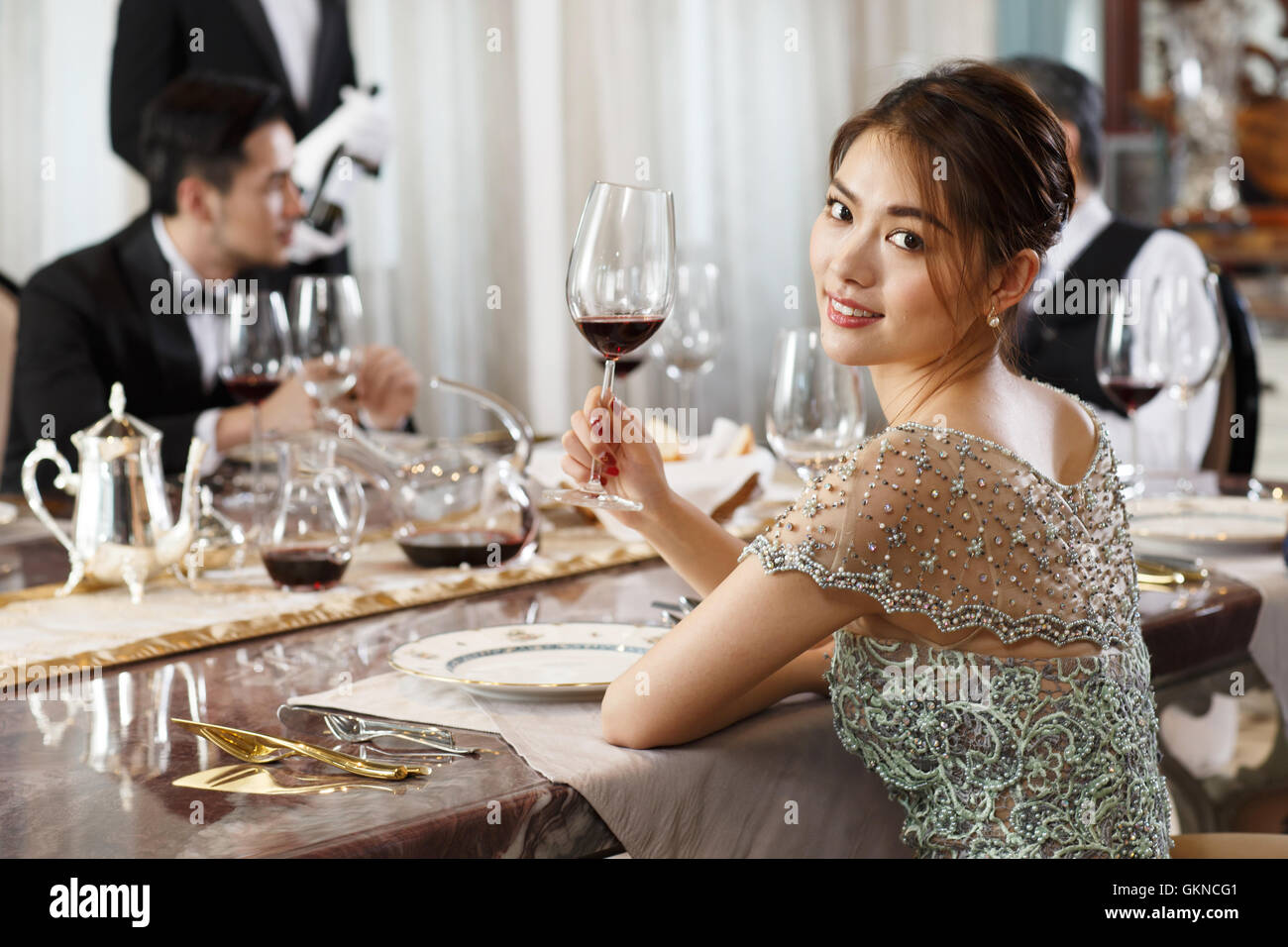 Business people dinner - Stock Image
