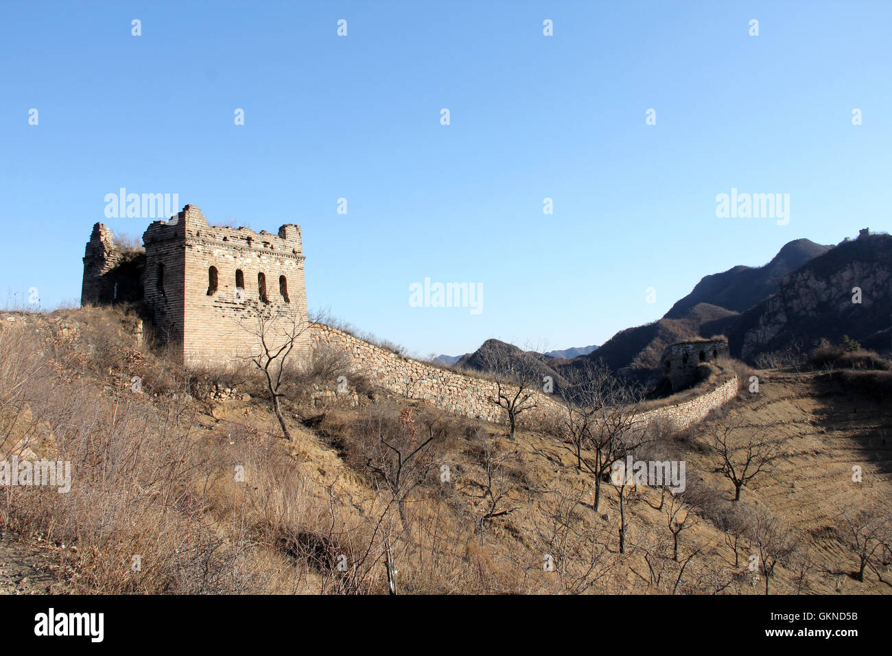 Hebei province Tangshan Qianxi elm ridge of the Great Wall,China - Stock Image