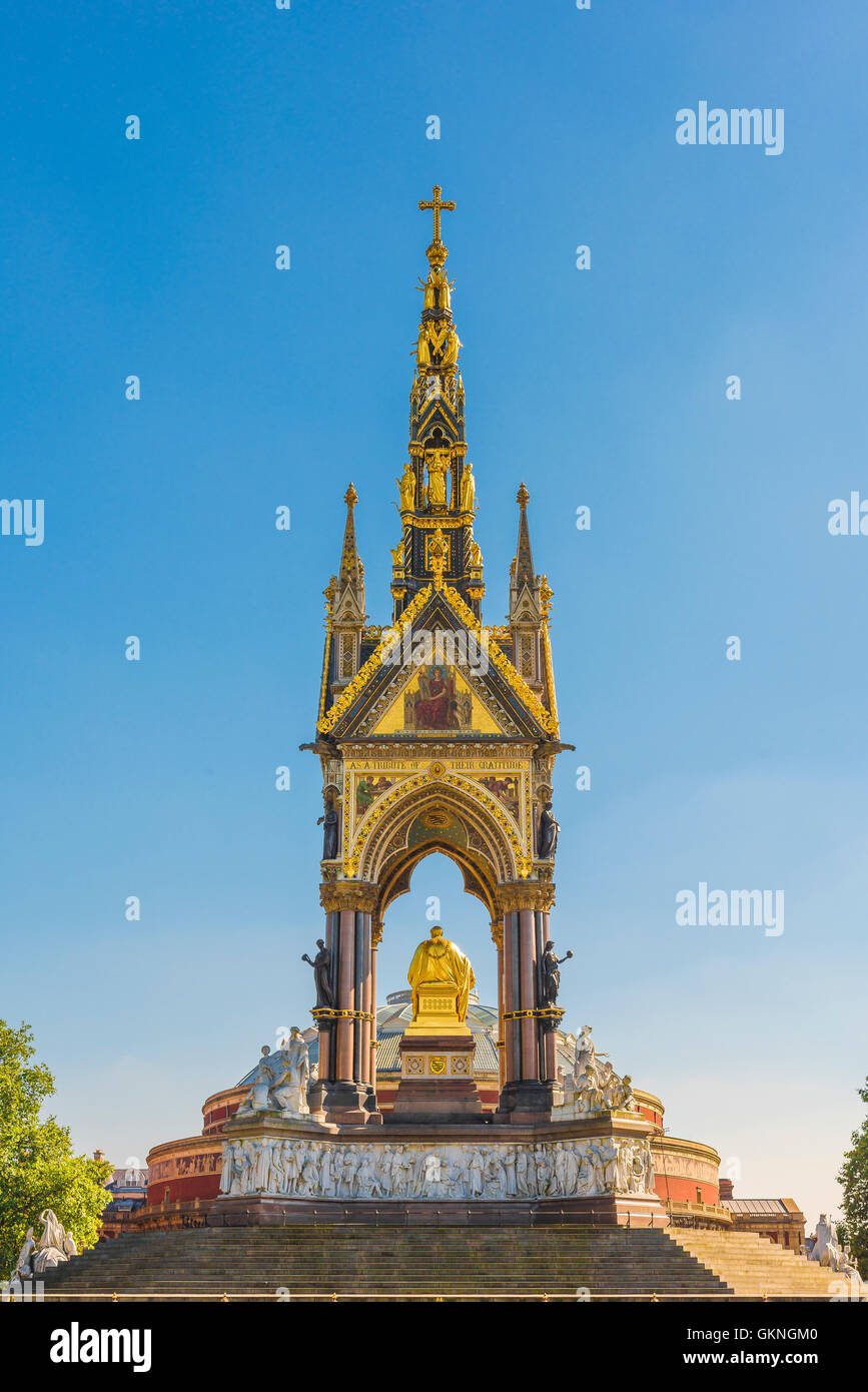 London architecture, detail of the rear of the victorian Albert Memorial sited next to the Royal Albert Hall in Stock Photo