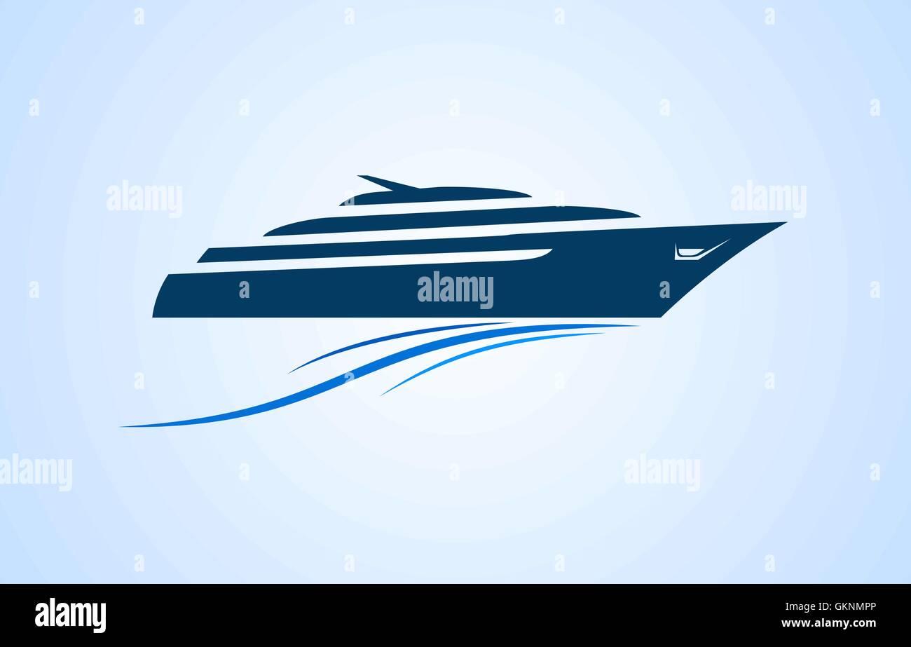 Speed boat Vector logo template Stock Vector Art & Illustration ...