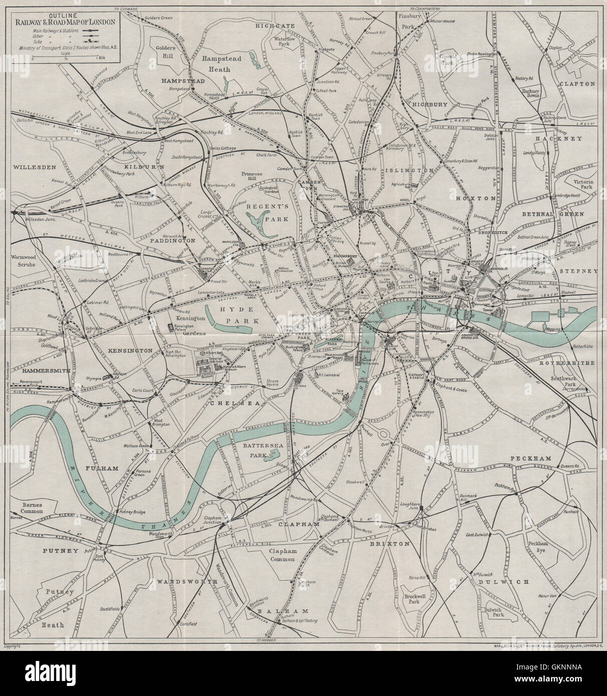CENTRAL LONDON RAILWAY u0026 ROAD MAP Underground