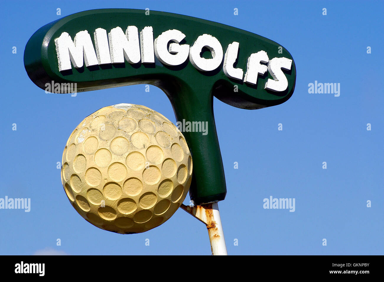 minigolf in Touquet in the north of France - Stock Image