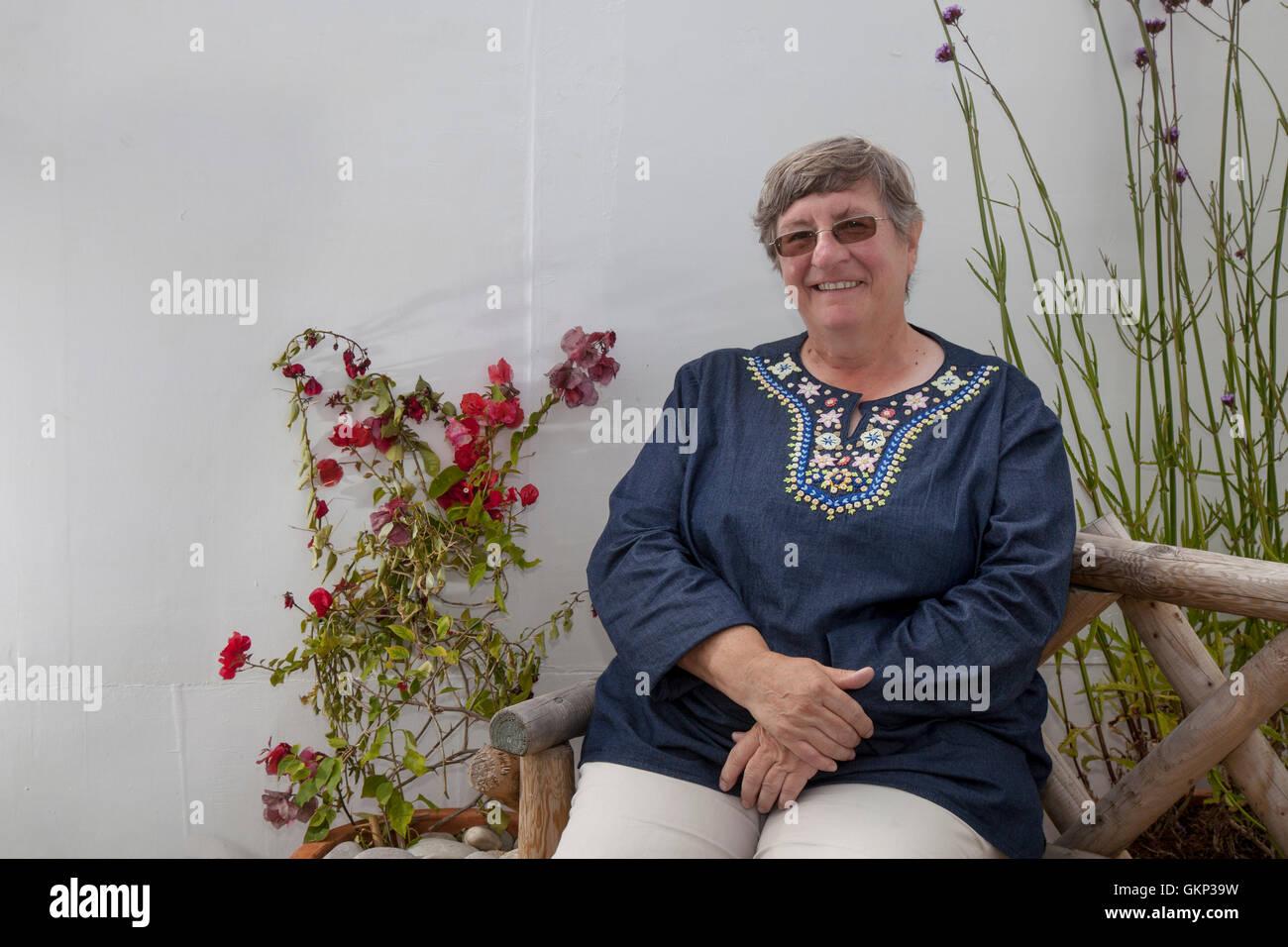 Southport, Merseyside, UK.  21st Aug, 2016.  Renowned horticulturist and TV celebrity gardener Christine Walkden, - Stock Image