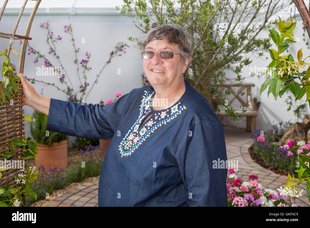 Southport, Merseyside, UK.  21st Aug, 2016.  Renowned horticulturist and TV celebrity gardener Christine Walkden, Stock Photo