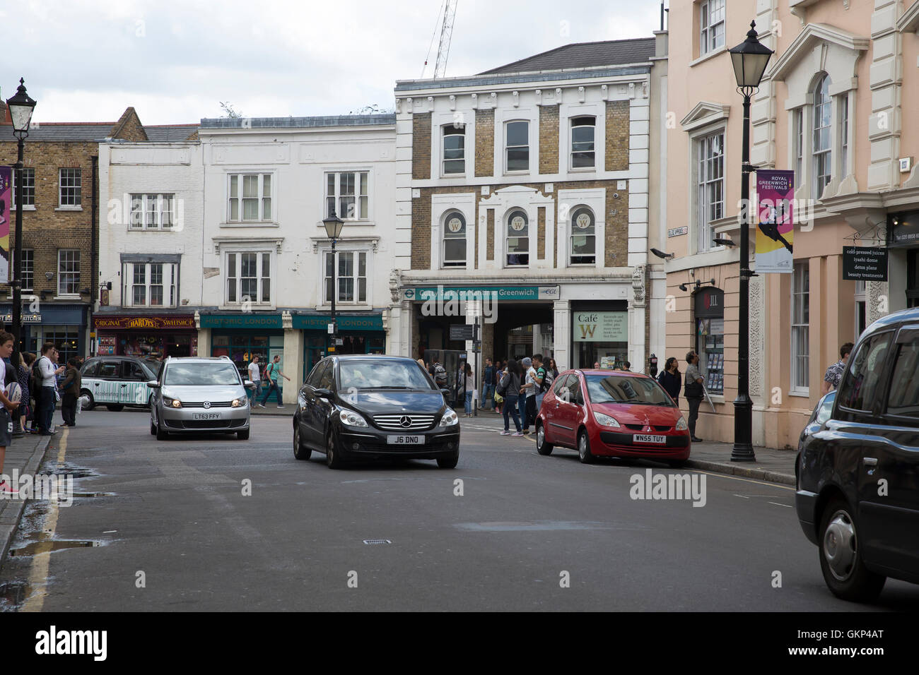 Greenwich,UK,21st August 2016,Traffic in Greenwic Credit: Keith Larby/Alamy Live News - Stock Image
