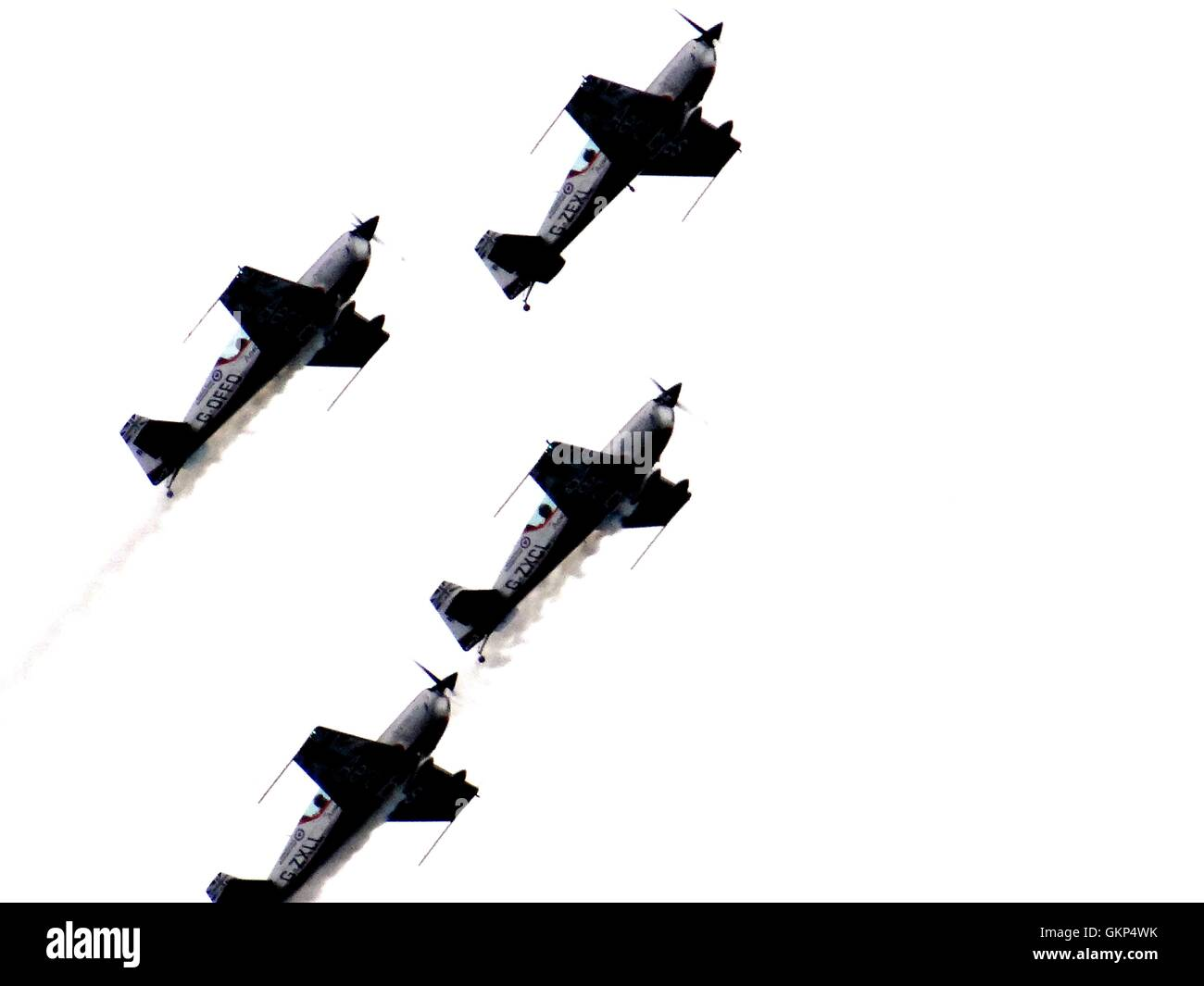 Bournemouth, UK. 21st Aug, 2016. The Blades on display at Bournemouth Air Festival on 21 August 2016, Bournemouth, - Stock Image